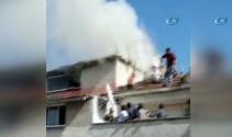 Kağıthanede pazar yerinde yangın paniği