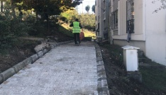Başiskelede parke yol ve kaldırım çalışmaları sürüyor