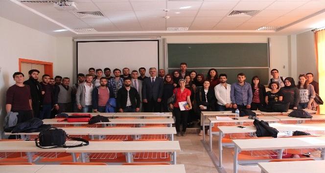 BEBKA Genel Sekreteri İsmail Gerim öğrencilerle buluştu