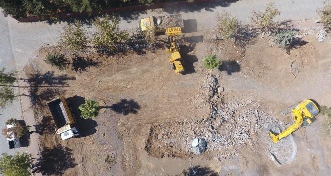 Turgut Özal Parkı için ilk kazma vuruldu