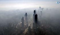 Sis altındaki İstanbul'un havadan görüntülendi
