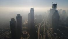 (Özel haber) Sis altındaki İstanbulun havadan görüntülendi