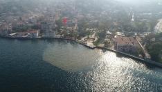 (Özel Haber)  Çamura bulanan İstanbul Boğazı havadan görüntülendi