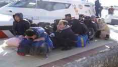 Çanakkalede 18 mülteci yakalandı