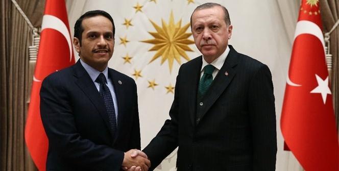 Erdoğan, Katar Dışişleri Bakanını kabul etti