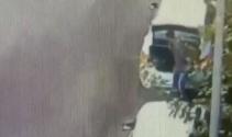 Diyarbakırda uzman onbaşıya saldırı anı kamerada