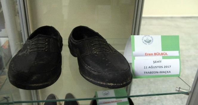 15 yaşındaki şehidin kara lastikleri 'Yaşayan Ayakkabı Müzesi'nde