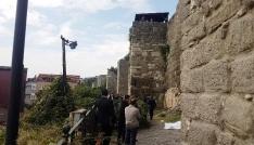 Amasrada kale surlarından düşen şahıs hayatını kaybetti