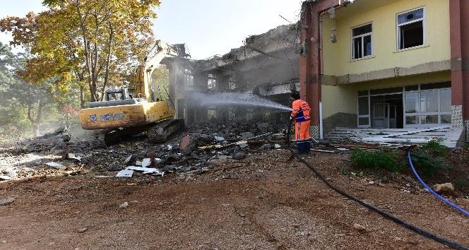 DSİ binaların tamamı yıkıldı