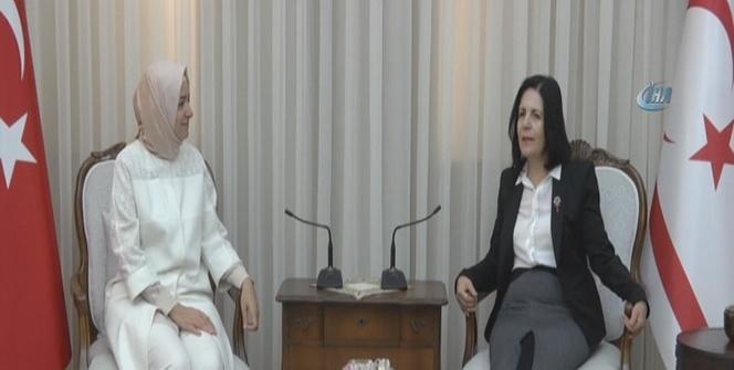 Meclis Başkanı Siber, Aile ve Sosyal Politikalar Bakanı Kaya'yı kabul etti