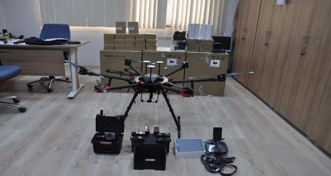 Çorum Emniyet Müdürlüğü'de 3 adet drone alındı