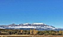 Anamas Dağı'nın zirvesine mevsimin ilk karı yağdı