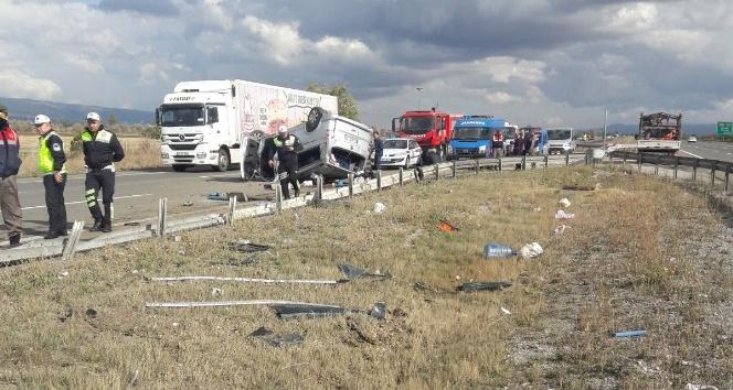 Bolu'da trafik kazası: 1 ölü, 4 yaralı