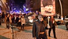 CHPden Gümüşhanede Cumhuriyet, vatan ve hürriyet yürüyüşü