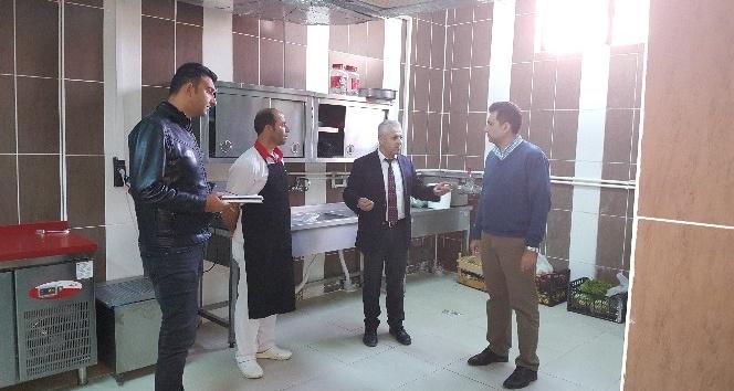 Kulp'ta okulların yemekhaneleri denetlendi