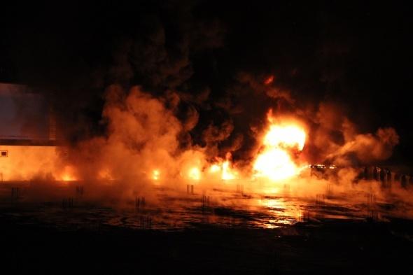 Karaman'da fabrika yangını!