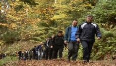 Gümüşhaneli dağcılar, Örümcek Ormanlarında doğa yürüyüşü gerçekleştirdi