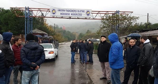 Amasra'daki maden işçilerin eylemi devam ediyor