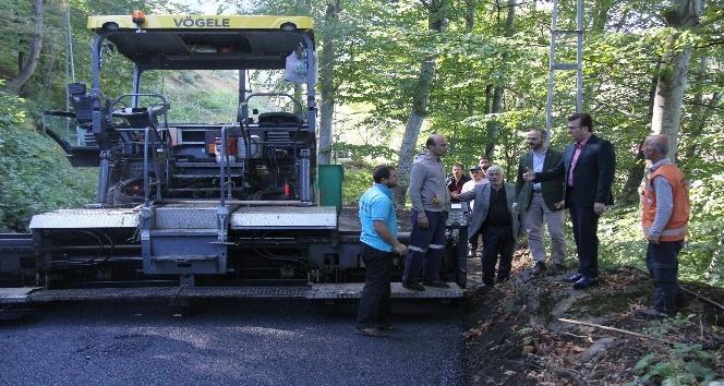 Vakfıkebir'de Caferli-Rıdvanlı Grup Yolu asfaltlanıyor