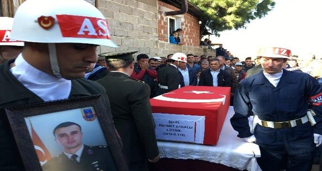 Şehit Üsteğmen Mehmet Sakallı son yolculuğuna uğurlandı