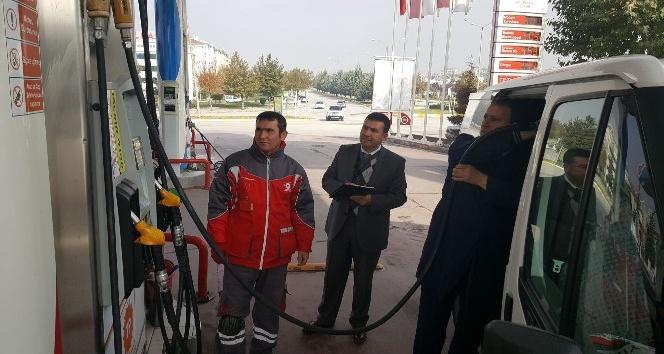 Çorum'daki akaryakıt ve LPG istasyonları denetlendi