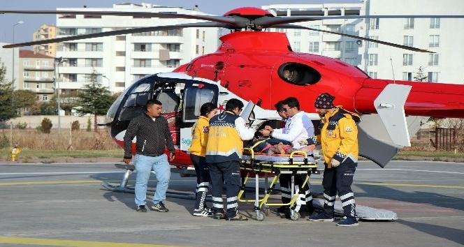 (Özel Haber) Uçuruma düşen adam, hava ambulansıyla hastaneye kaldırıldı