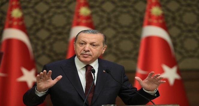 """Cumhurbaşkanı Erdoğan: """"Şerefsizlerin emir aldıkları yerlere boyun eğmedik, eğmeyeceğiz"""""""