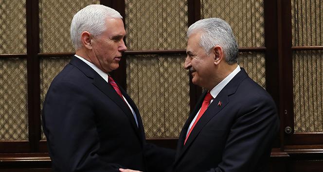 Başbakan Yıldırım, ABD Başkan Yardımcısı Pence ile bir araya geldi
