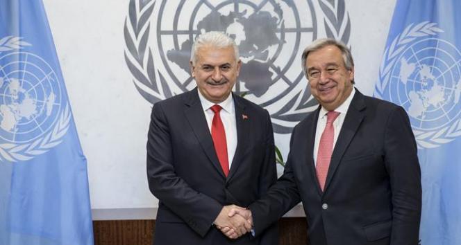Başbakan Yıldırım ile Guterres arasında görüşme