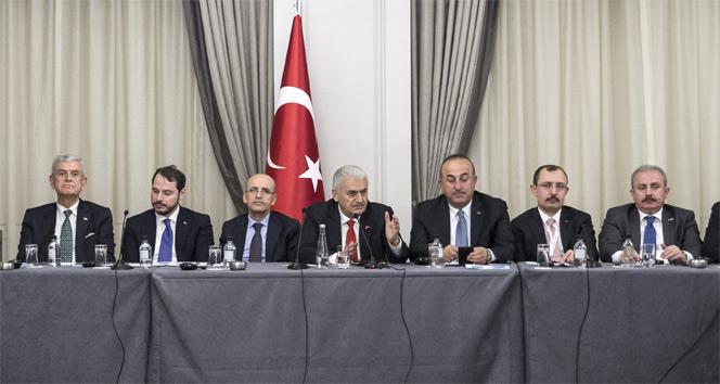 Başbakan Yıldırım finans kuruluş temsilcileri ile görüştü