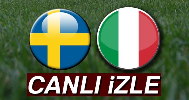 CANLI İZLE: İsveç İtalya canlı izle İdman tv, canlı skor, maç kaç kaç ?