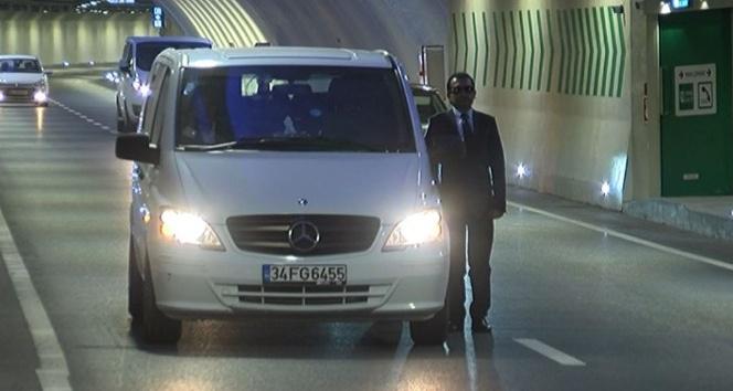 Avrasya Tüneli'nde Ata'ya saygı duruşu