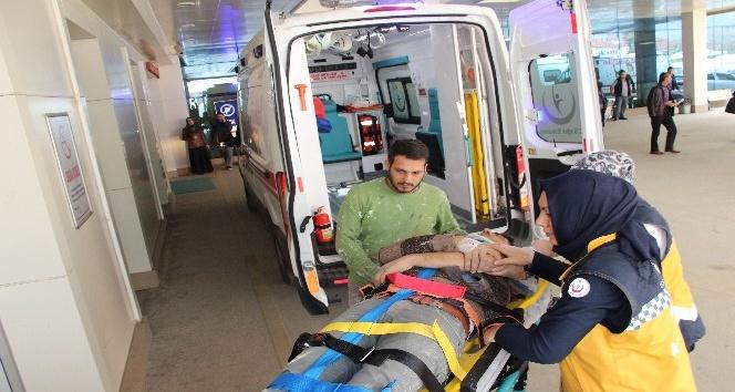 İki ayrı inşaattan 2 işçi düşerek yaralandı