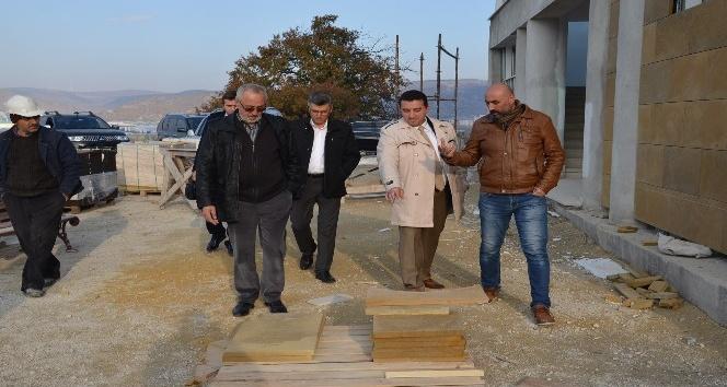 Başkan Bakıcı Medine Camii'nde incelemelerde bulundu