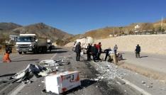 Gümüşhane-Bayburt karayolunda TIRlar çaprıştı: 1 yaralı