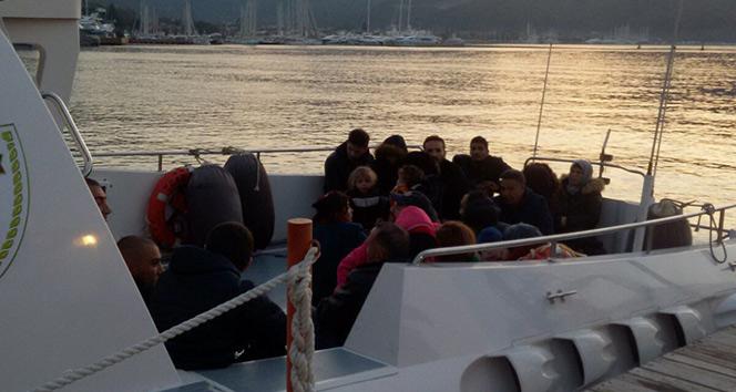 Ege Denizinde 45 kaçak göçmen yakalandı