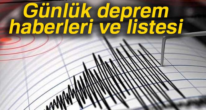 Son dakika Günlük deprem haberleri ve listesi |Son depremler 2017 -ÖĞREN-