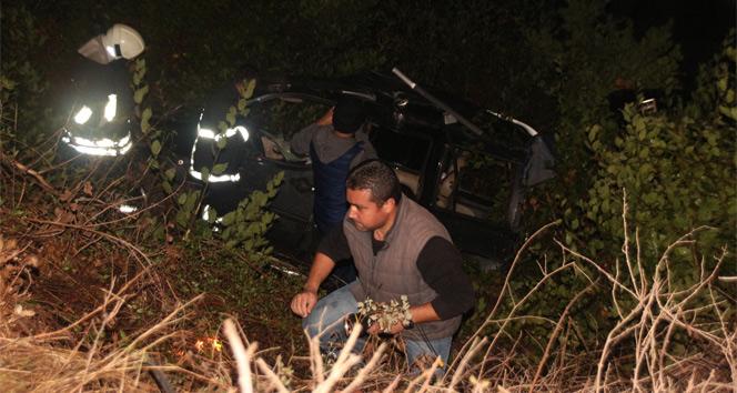 Bodrumda trafik kazası 3ü çocuk 5 kişi yaralandı