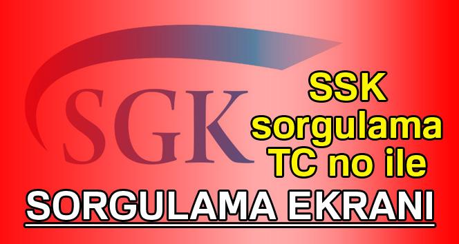 SSK sorgulama - Online SGK sorgulama | SSK sorgulama TC no ile - SGK prim gün sayısı öğren, SSK prim gün sayısı öğrenme