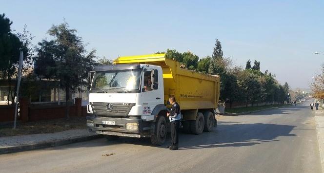 Hafriyat kamyonları denetimi