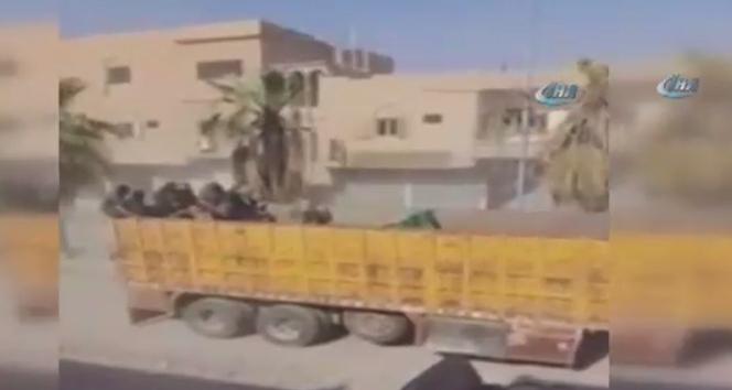 ABD destekli PYDnin DEAŞ militanlarını Deyr ez Zora taşıma görüntüleri ortaya çıktı