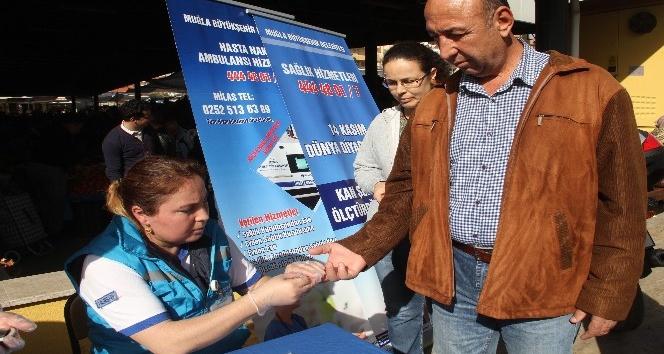 Milas'ta diyabet testine yoğun ilgi
