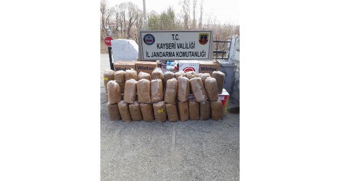Jandarma 140 kilogram kıyılmış tütün ele geçirdi