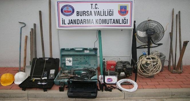 Bursa'da kaçak kazıya 5 gözaltı