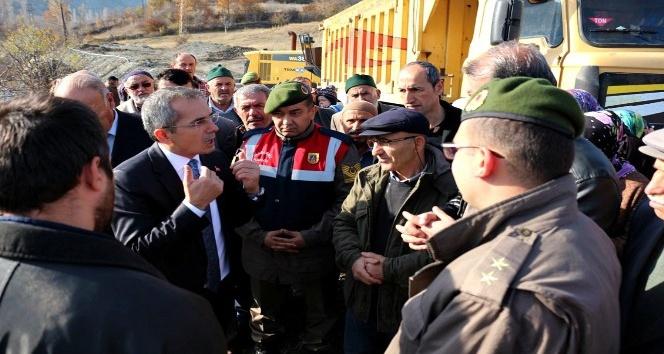 (Özel haber) Kaymakamdan, maden ocağı yetkilisini azarladı