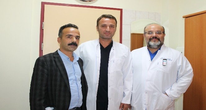 Gaziantep'te inme ile hastaneye giden şahıs, 20 dakikada tedavi edildi.