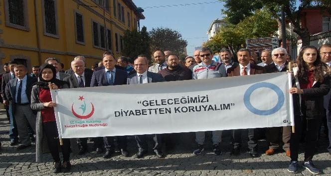 Konya'da Dünya Diyabet ve KOAH Günü yürüyüşü gerçekleşti