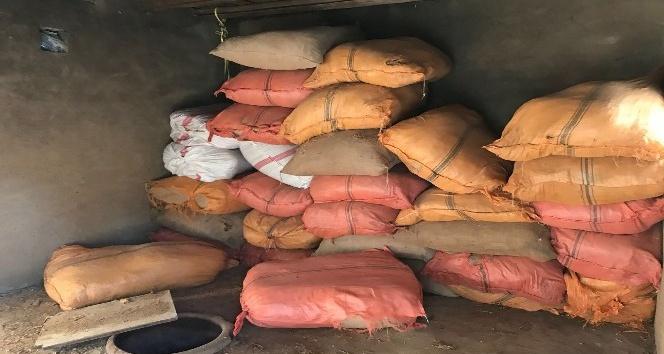 Van'da 2 ton dökme kaçak tütün ele geçirildi