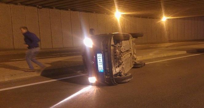 Edirne de trafik kazası: 1 yaralı