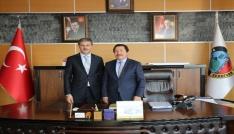 Vali Balkanlıoğlundan Başkan Alemdara taziye ziyareti